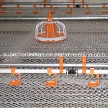 Entrerrosca de las aves de corral beber equipos para granja de pollos