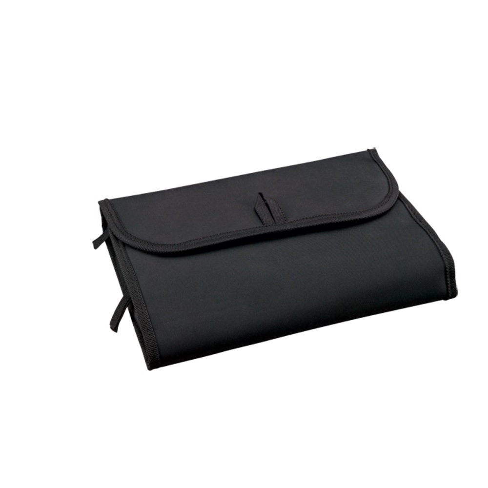 Foldable Polyester Women Cosmetic Wash Bag with Zipper