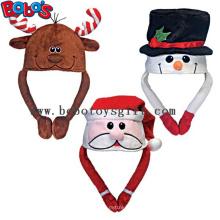 Soft Plush Warm Winter Cap Animal Festa Chapéu Chapéu de Natal