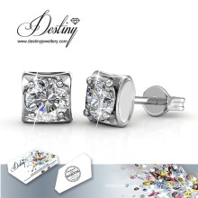 Destiny Jewellery Crystals From Swarovski Square Earrings