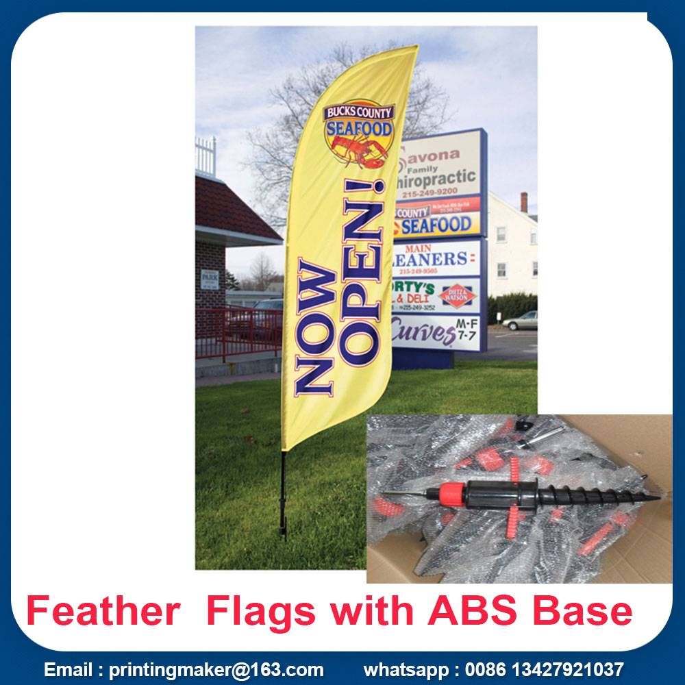 Promoção Feather Flags Custom With Kits