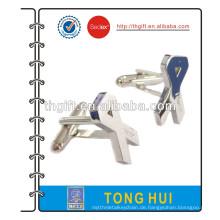 Metall-Manschettenknopf mit 2D-Band-Design