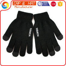 Factory outlet acrylic knitted winter touchscreen gloves all color custom