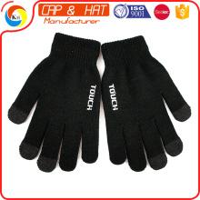Fábrica de saída de acrílico tricotadas luvas touchscreen inverno todos os cor personalizado