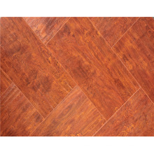 Commercial 12.3mm AC4 Embossed Teak Sound Absorbing Laminated Flooring