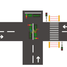 School crossing road safety led traffic lights