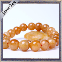 Bright Lucky Non-Transparent Gold Stone Jewelry Bracelet