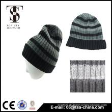 Classcal Design Acryl Herren Stripe Beanie Hat