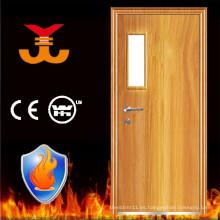 Puerta de madera antiincendios interior estándar internacional BS476