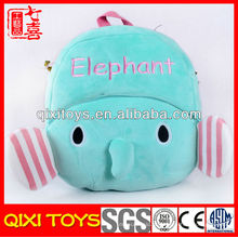 Trouxa animal do elefante do luxuoso da forma quente da venda para crianças