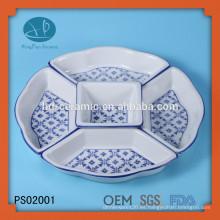 Material cerámico y porcelana Cerámica Platos tipo 5 compartimentos