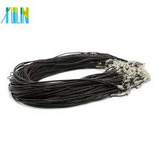 Echtes Leder Halskette Schnur mit Karabiner Verschlüsse und Extender DIY Handwerk Halskette, 100 teile / paket, ZYN0007
