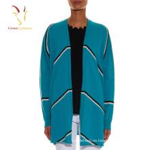 Suéter de punto cardigan abierto elegante delantero abierto