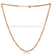 Zierliche 18K Gold überzogene Messingkette in 20 Zoll Länge tragen als Armband