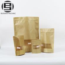 Sacs faits sur commande de paquet de nourriture de papier de kraft de catégorie comestible