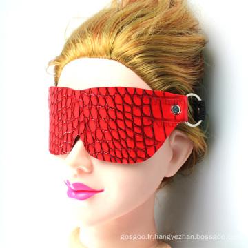 Masque pour les yeux Rouge Adulte Sex Toys Crocodile Grain Online Shopping Chine Good Quality Sex Tool
