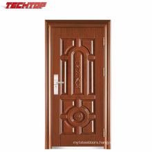 TPS-057 Safety Metal Wrought Iron Front Double Door Designs Exterior