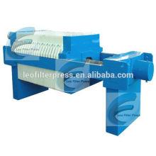 Prensa de filtro de placa empotrable pequeña, placa de tamaño pequeño y filtro de marco Prensa para laboratorio de China Prensa de filtro Leo