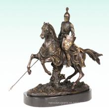 Caballero Home Deco Warrior Escultura estatua de bronce Tpy-452