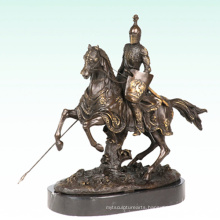 Knight Home Deco Warrior Sculpture Bronze Statue Tpy-452