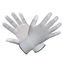 Polyester/Nylon Gloves with White PU Coated
