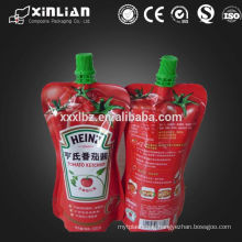 Stand Up Side Gusset Liquid Spout Bag Cap Pouch for food packaging