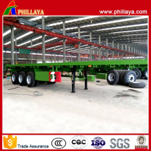 Tri Axles 20/40ft Flatbed Container Lock Semi Container Trailer