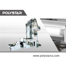 Doble capa de alta velocidad mulch film extruder película de la máquina