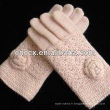 13ST1019 noble Mesdames pur angora tricot gants de main