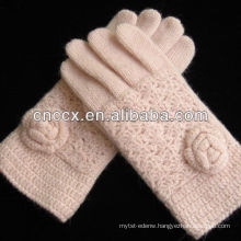13ST1019 noble ladies pure angora knit hand gloves