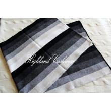 Cachecol de malha de cashmere com listras verticais Intarsia