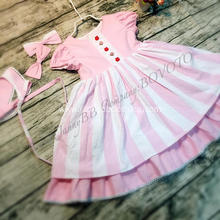 WD Wolf pink stripe boutique remake dress
