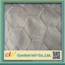 O bordado liso popular projeta a tela feita malha da camurça
