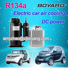 rotary r134a mini DC compressor for portable car air conditioner 12v