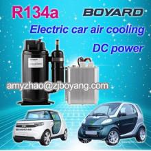 rotary r134a mini DC compressor for portable car air conditioner 12v