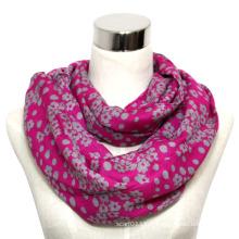 Lady Fashion imprimé écharpe en coton infini tricoté écharpe (YKY1012)