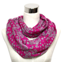 Lady Fashion Printed Cotton Voile Infinity Knitted Scarf (YKY1012)