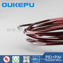 IEC317-13 class200 class180 awg esmaltado alambre cuadrado de cobre, alambre de cobre esmaltado rectangular, alambre magneto de cobre de esmalte