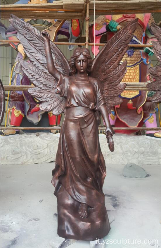 Statua antica di Beonze Angel per la decorazione all'aperto