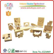 Juguete de madera animal educativo