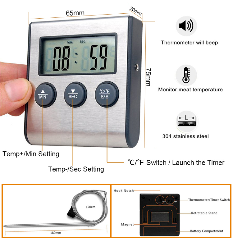 Ldt 100 Meat Thermometer Specification 2