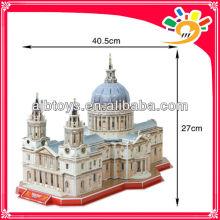 107PCS World Architecture SAINT PAUL'S CATHEDRAL 3D Model Building Puzzle DIY Paper Jigsaws Puzzle For Children