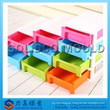Gabinete de plástico barato, molde plástico de la inyección del cajón del envase de almacenamiento