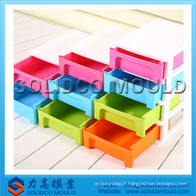 Cabinet en plastique bon marché, moule en plastique d'injection de tiroir de récipient de stockage