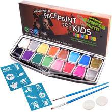 Ungiftige Farbe Set Professional Face Paint Schablonen Kit
