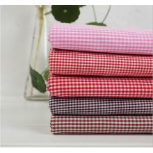 Polyester Cotton Yran Dyed Check Fabric Garment Fabric Upolstery Fabric