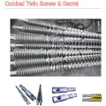 conical twin screw barrel for Profile(WPC) Extrusion