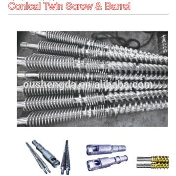 cilindro de parafuso duplo cônico para extrusão de perfil (WPC)