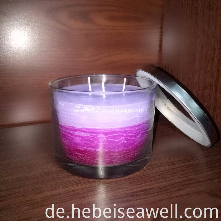 3 Wick Candles Same Color Shade Candles (1)