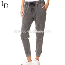 Pantalones casuales de las mujeres con cordones del diseño del OEM del nuevo estilo de la fábrica de China